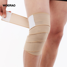 Woerao Men Basketball Tennis Elastic Knee Pads Breathable Nylon Sport Compression Twining Knee Support Fitness Jogging Equipment(China)