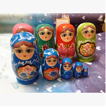 Handmade Traditional colorful Matryoshka Doll 5pcs/set Wooden/timber Russian Nesting Dolls Child Gift Decreasing Size Toy