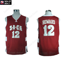 Dwight Howard #12 Saca College Basketball Jerseys Beast Beat Throwback Red Student Limited Edition Wholesale Jerseys