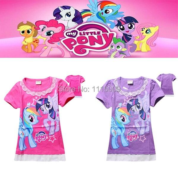 3-8 years my little girl pony t-shirt cartoon children girls t shirt pony high quality my little baby girls pony tshirt<br><br>Aliexpress