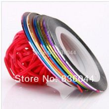 40pcs Multicolor Rolls Strip Striping Tape Line Wrap Tips Sticker Decoration DIY Tools Nail Art Manicure(China)