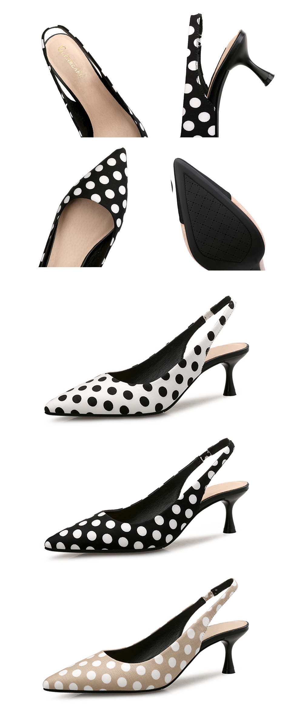 Brand Women Pumps High Heels Shoes Leather Spring Wave Point Single Women Dress Shoes Thin Heels Pointed Toe Party Pumps Lady 45 4