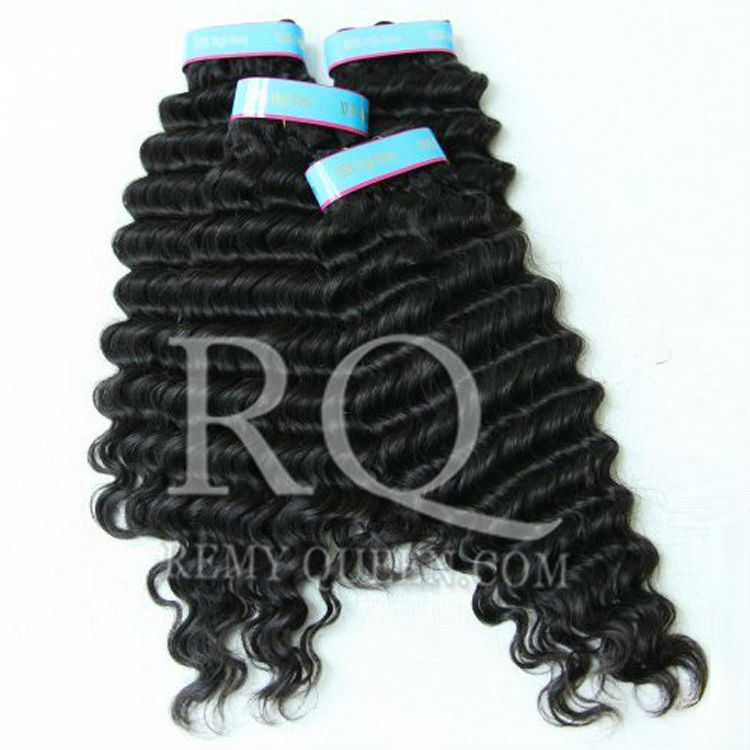 REMY Queen Hair Products MIX Size 12-28 Brazilian Deep Wave Hair Remy Hair Extensions Double Weft 3pcs/lot DHL / UPS Free<br><br>Aliexpress