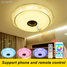 2017 New ceiling light fixtures flush mount with Bluetooth sound speaker or remote control dome acrylic led lamps for ceiling(China)