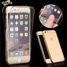 KISSCASE Smart Touch Soft TPU Phone Cases For iPhone 7 Case Clear Slim Cover For iPhone 7 7 Plus 6 6S 6 Plus For Samsung S7 S6(China)