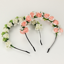 1 pcs Fashion Hot Sale Garland Floral Bridal Headband Wedding Headwear Flower Headband Hair Accessories Gift