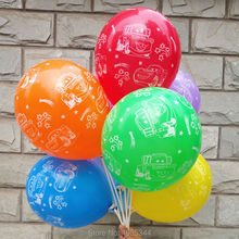 12 inch 2.8g 50pcs/lot car balloons latex round balloons printed balloon  kids toys round balloons birthday party free shipping