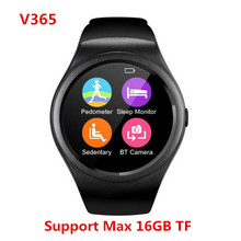Latest Smart Watch V365 Full Circle Smartwatch Pedometer Fitness Tracker SIM TF Mobile Watch for IOS android Smart Watch android(China)