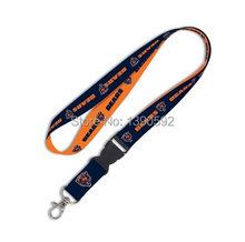 Free shipping 100 pcs/lot  Wholesale Chicago Bears Lanyard/ MP3/4 cell phone/ keychains /Neck Strap Lanyard