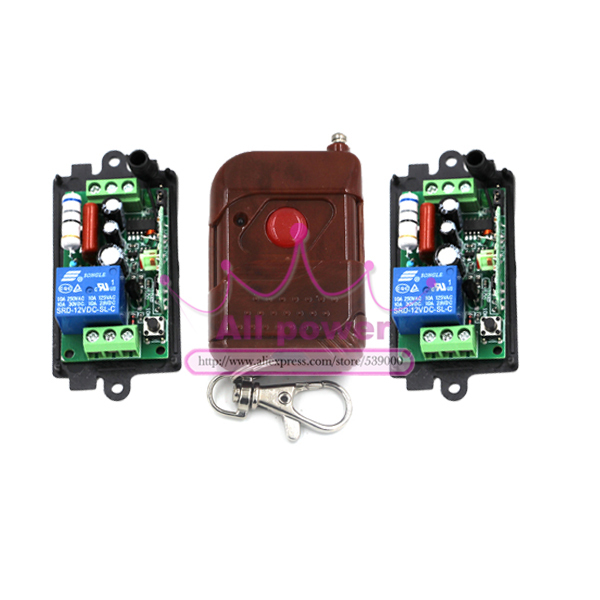 Intellegent electrical curtain controller wireless remote control switch 1pc 1 button transmitter and 2pcs 220V 1CH switch<br><br>Aliexpress