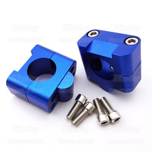 "Buy CNC Aluminum 28mm 1 1/8"" Fat Handle Bar Clamp Riser Blue Bolts ATV Quad Buggy Pit Dirt Bike Go Kart Moped Motorcycle for $18.25 in AliExpress store"