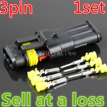 1set 3Pin Car Waterproof YL359 Connectors AMP Plug Socket Male Female Wire Connection Dustproof High Pressure Resistant Russia