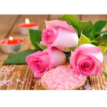 Vivid Pink Rose Diamond Painting Flower 5D DIY Embroidery Cross Stitch Rose Picture Adhesive Rhinestones Crafts Home Decor