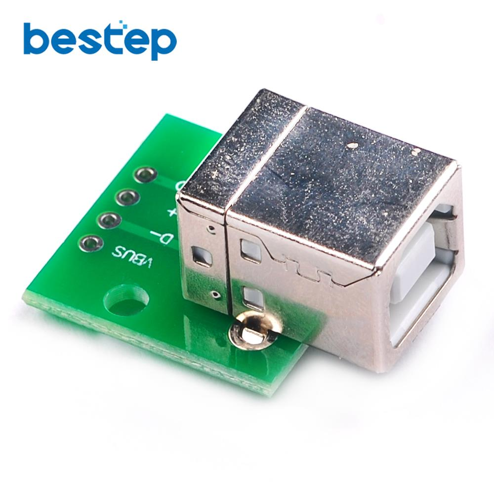 1PCS USB-05 USB turn DIP adapter plate female head socket DIP Type B party interface printer connection cable