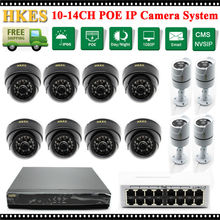 16CH NVR Network Video Record 1080P Full HD Home Security Camera 960P POE System Plug and Play with POE SWITCH 16CH