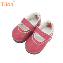 Tilda 2.5cm Doll Boots for Blythe Doll Toy,Lovely Mini PU Leather Dolls Shoes for BJD Blyth Toy,Casual Doll Slippers Accessories(China)