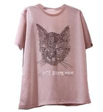Camiseta funny t shirts t-shirt women Dogs And Cats Funny Cute Tee unicorn women tops wonder woman(China)