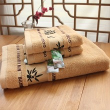 3pcs Print towel 100% Bamboo Fiber bath beach face towel sets for adults 34cm*75cm*2p 70cm*140cm*1p cotton bathroom towel(China)