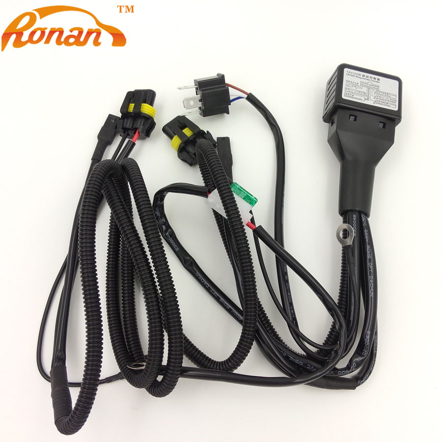 1PC Xenon font b HID b font Headlight Relay font b Wire b font font b online buy wholesale 12v 35w wiring harness controller hid from 12V DC Battery at gsmx.co