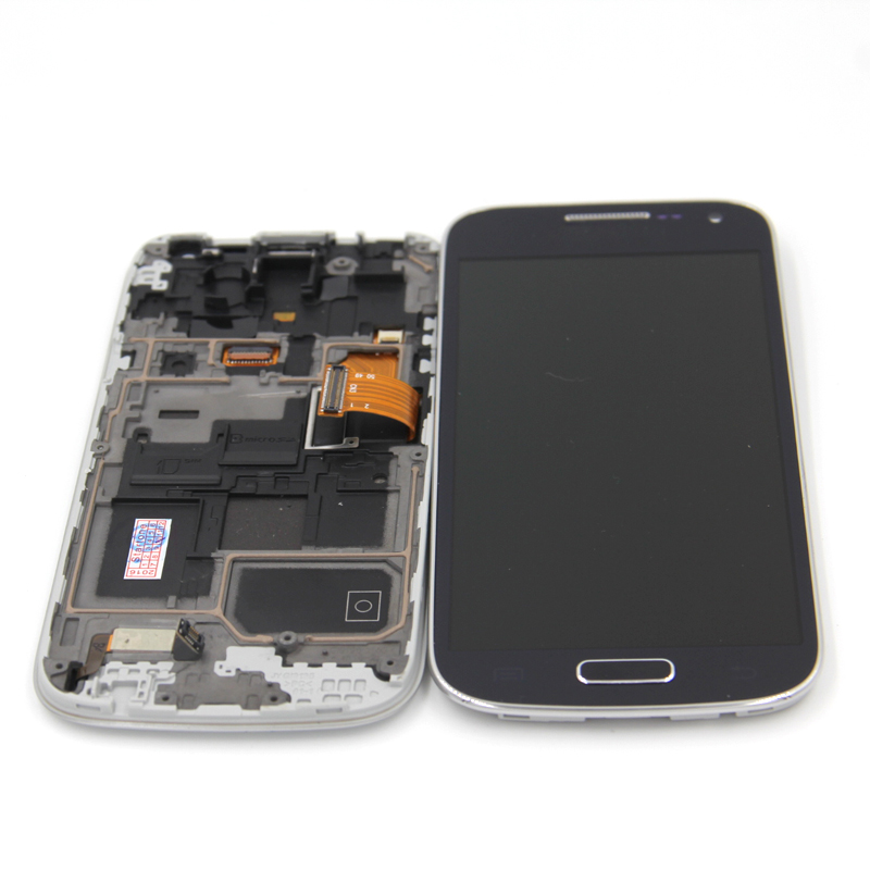 100% tested For Samsung Galaxy S4 mini i9190 i9195 i9192 LCD Digitizer Assembly frame free shipping <br>