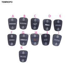 30pcs/lot Rubber Silica Gel Replacement Key Cover Shell Case Button For Hyundai for kia key Pad