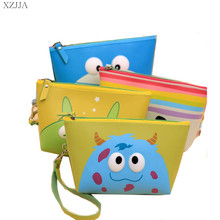 2016 New Fashion Hot Cute Cartoon Women Leather Make Up Case Pouch Cosmetic Bags Toiletries Travel Organizer Clutch Bag Handbags