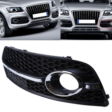 Auto Left Side Round Hole Style Paint Black Grills Auto Car Front Bumper Grill Grille For Audi Q5(8R) MK1 2008-2012 Pre-facelift