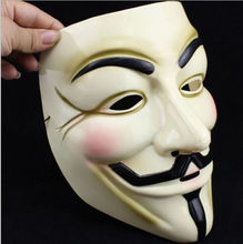 2 Version V for Vendetta Mask Festival Anonymous Halloween Guy Masked Ball Yellow&Black Cosplay Masks