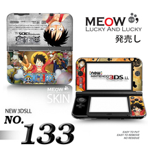 ONE PIECE Protective Cover Shell For Nintendo 3DS XL LL Stickers Vinly Skin Sticker for NEW 3DS XL Sticker w/ retail package
