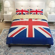 hot blue red England flag bedding set twin full queen king size bed linens modern quilt duvet covers adult bedclothes 4-5 pieces