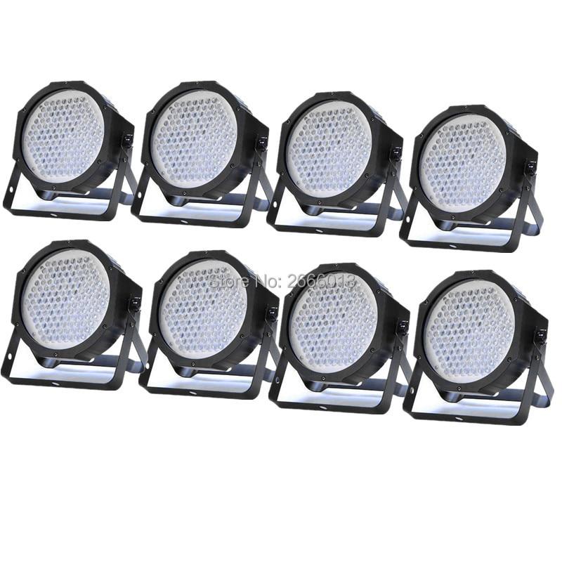 8pcs/lot 127 LED FLAT PAR Stage Lighting Music Active DMX512 PAR CAN Spotlight Club DJ Party Disco LED wash wall effect lights<br>