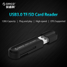 ORICO High Quality USB 3.0 All in 1 Multi Memory Card Reader for SD & TF Cards Max Support 128GB-Black/White(China)