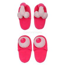 Willy Willie Penis Pecker / Womem Boob Breasts Boobie Slippers Hen Night Stag Party Novelty Funny Gift(China)