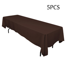 5PC Wedding Linens Tableclothd Super Quality Polyester Black Table Cloths for Hotel Restaurant Catering House Dining Decorative