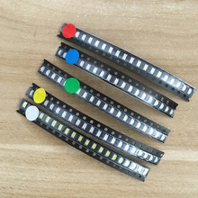 5 colors x20pcs =100pcs 1206 SMD LED light Package Red White Green Blue Yellow 1206 led kit Free Shipping(China)