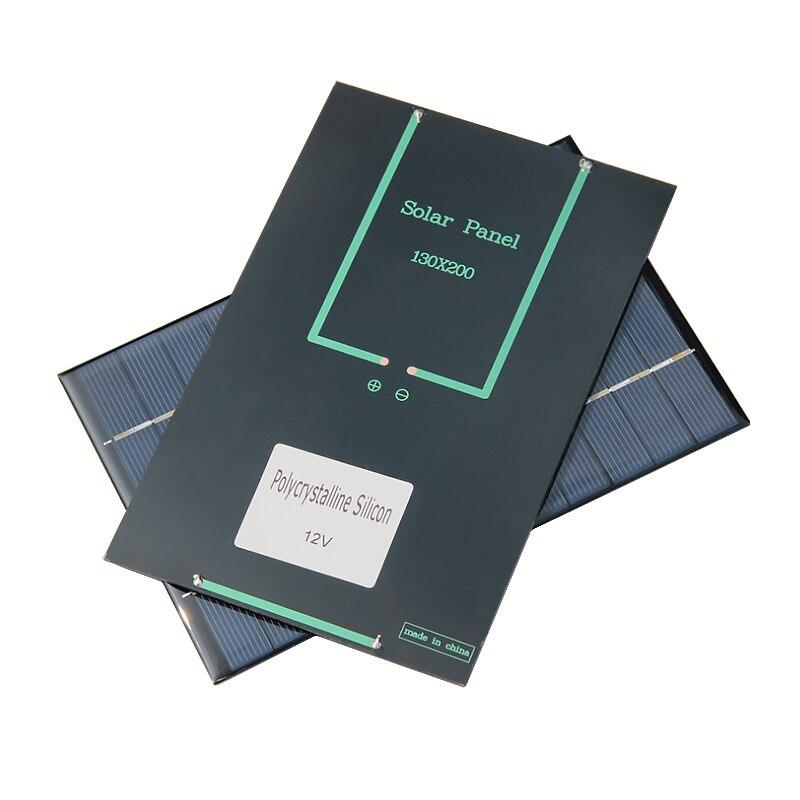 Aoshike 4.2W 12V Solar Panel Polycrystalline 0*130mm Solar Cell Battery Module Polycrystalline DIY Solar Power System 5