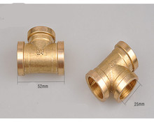 Tee 3 Ways Brass Pipe fittings Female thread  Tap water, pipe joint adapters