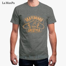 Free Shipping Skateboards Lifestyle T-Shirt For Men Summer O-Neck Tee Shirt Clothes S-3xl T Shirt Male Tops(China)