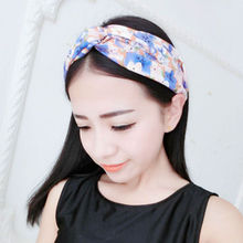 Women Girl Elastic Turban Hairbands Floral Printed Dotted Stripped Twisted Knotted Hair Head Band Headband Hair Accessories