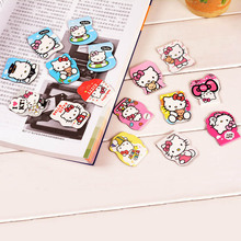 Cute Kawaii Hello Kitty Paper Bookmarks Creative Magnetic Bookmark For Books School Supplies Free Shipping 2917