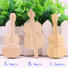 Hot Sales Wooden Bamboo Guitar Cello usb flash drive pen drive 4GB 8GB 16GB 32GB 64GB customized pendrive memory stick U Disk