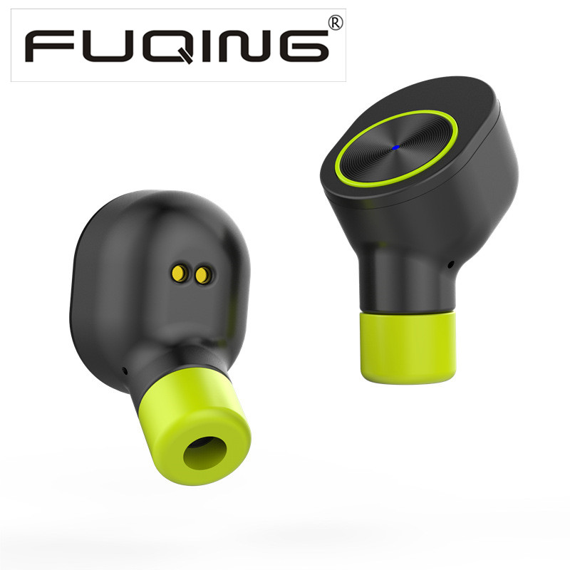 New FuQing T1 Earphone True Wireless in Ear Earbuds with Charging box for iPhone 7 7Plus iPhone 8<br>