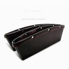 Buy 2X Storage Box Car Organizer Seat Gap PU Leather Case Pocket Car Seat Side Slit Wallet Phone Coins Cigarette Keys Cards Pens for $11.89 in AliExpress store