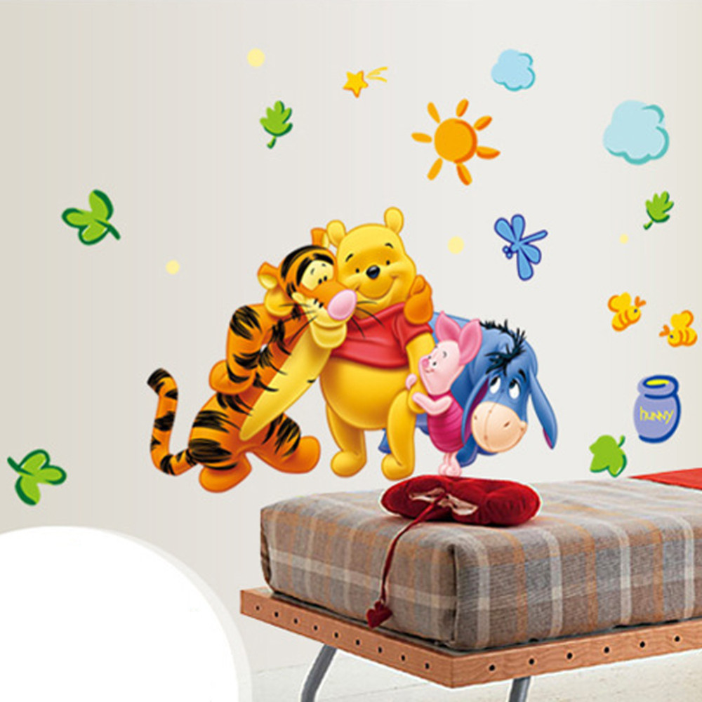 HTB1TYAsbgnH8KJjSspcq6z3QFXar - New Arrival  The Pooh Cartoon Wall Stickers For Kids Rooms