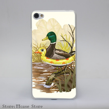1074CA DUCK IN TRAINING Transparent Hard Cover Case for Lenovo S850 S60 S90 A536 A328