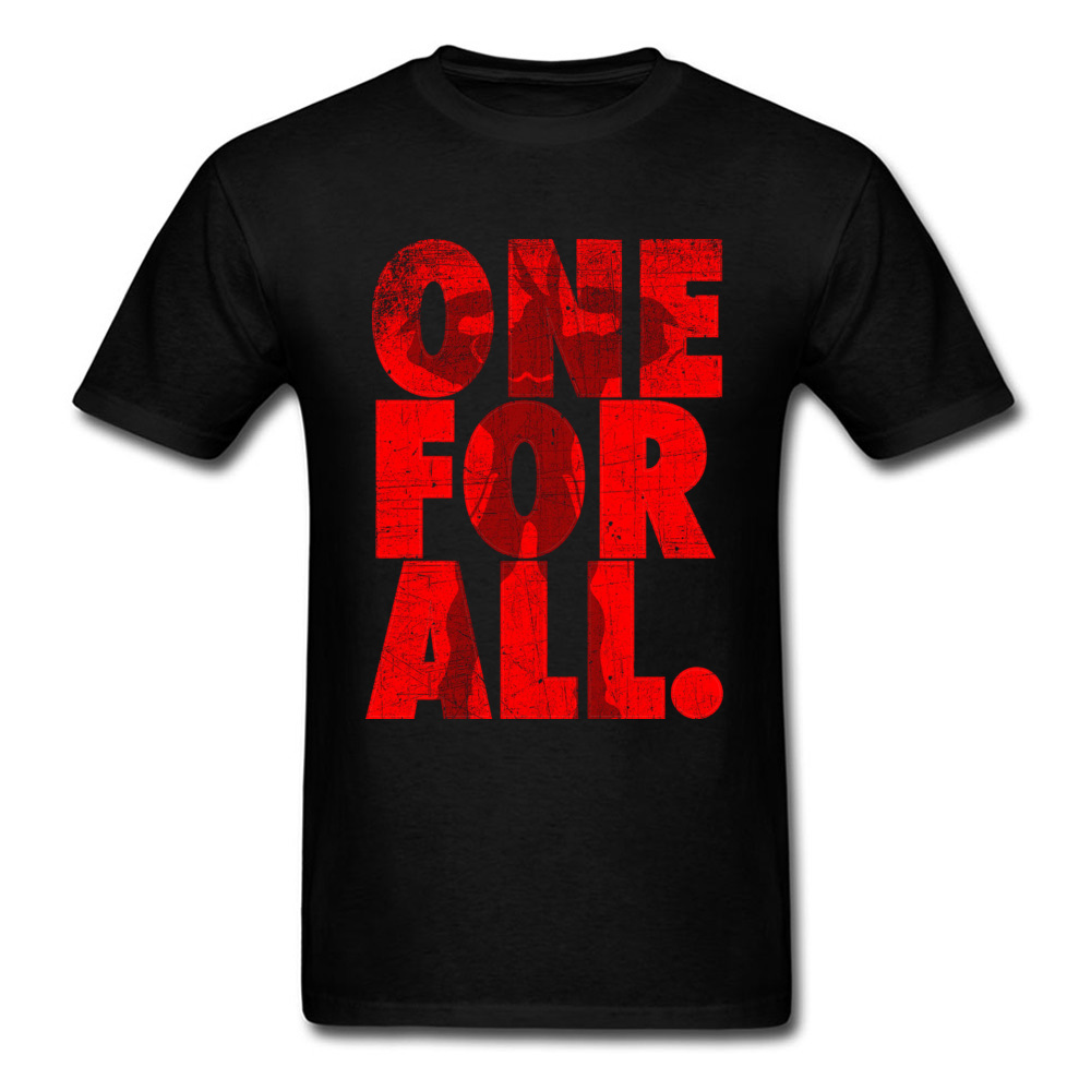 Mightier-One-For-All-My-Hero-Academia T-Shirt for Men 3D Printed Labor Day Tops Shirt Newest Tops Shirts Crewneck 100% Cotton Mightier-One-For-All-My-Hero-Academia black