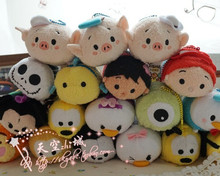 New Arrival Tsum Tsum Plush toy doll toys Cute doll Tsum tsum mini doll toy keychain for Christmas gifts(China)