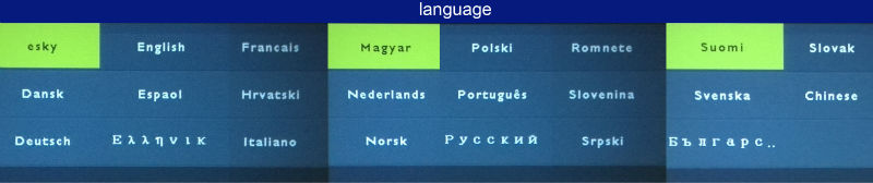 G90 language Russian Spanish Korean English
