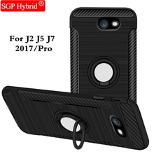 Finger Ring Shell For Samsung Galaxy J3 J5 J7 Pro / 2017 J330 J530 J730 J 7 Max Holder Stand Magnetic Suction Bracket Phone Case(China)