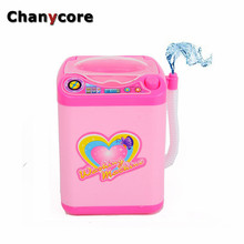Chanycore Cute dollhouse furniture Toys for girls Washing machine  Emulational Pink Sounding  Toys Baby Girls Play Toy Gifts